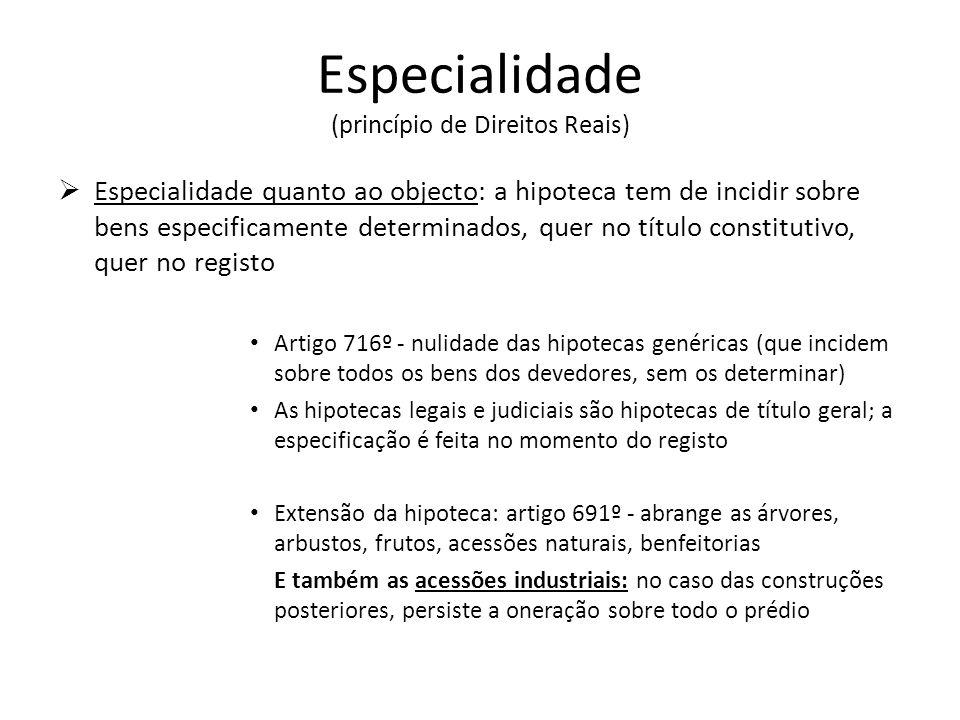 Especialidade (princípio de Direitos Reais)
