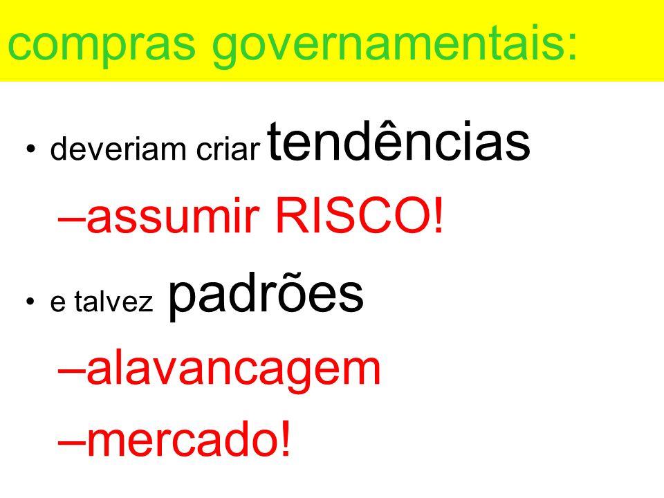 compras governamentais: