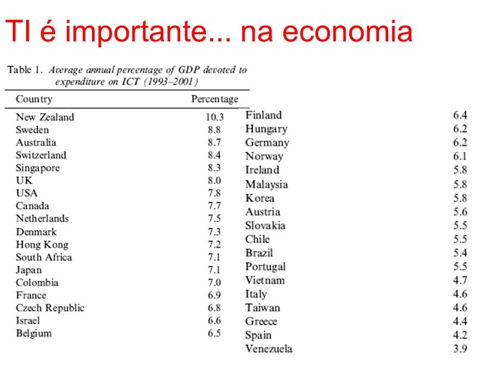 TI é importante... na economia