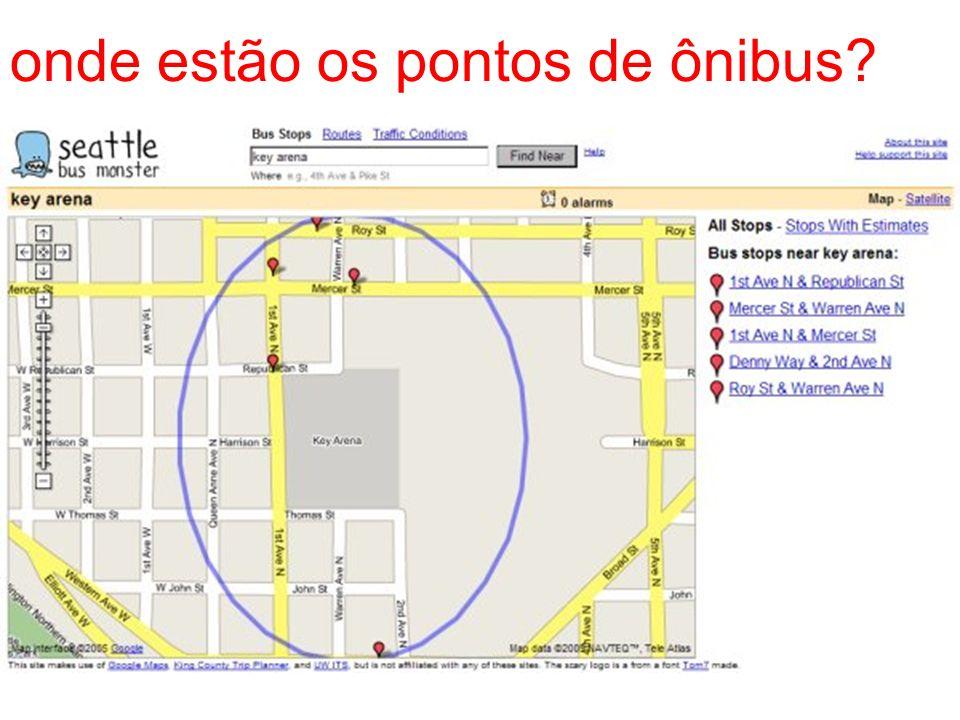 onde estão os pontos de ônibus