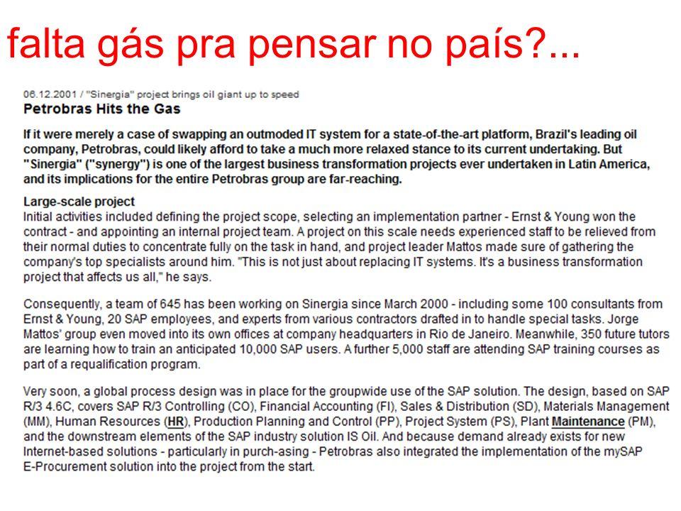 falta gás pra pensar no país ...