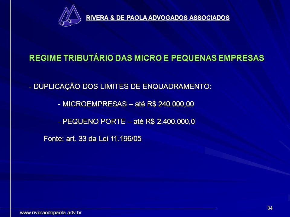 REGIME TRIBUTÁRIO DAS MICRO E PEQUENAS EMPRESAS