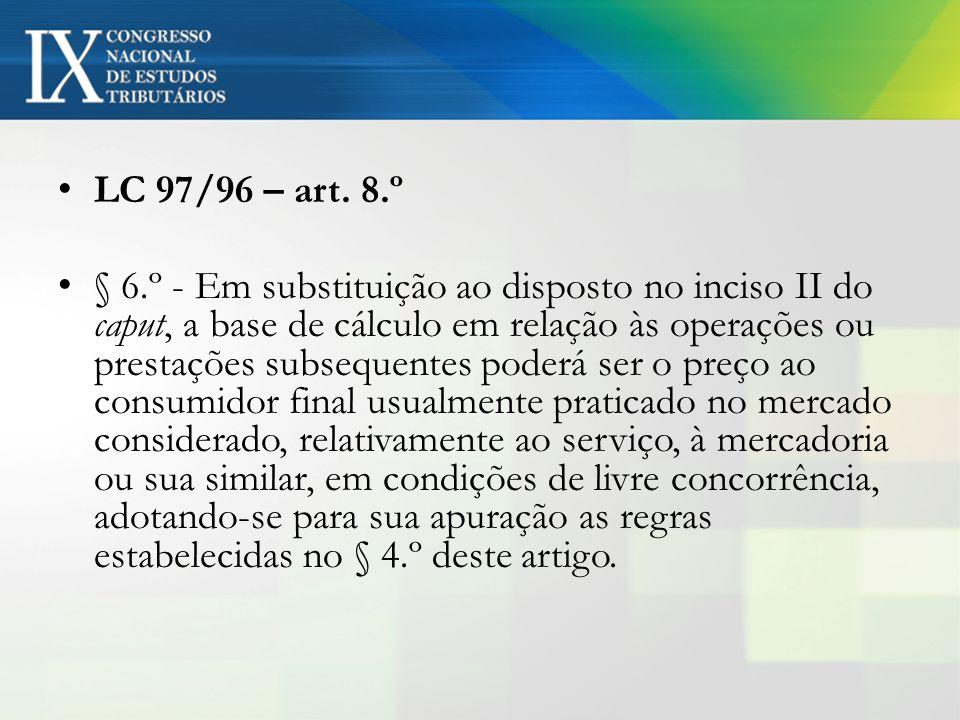 LC 97/96 – art. 8.º