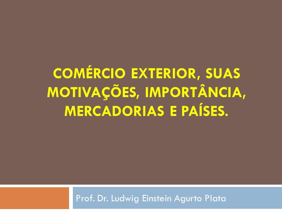 Comércio Exterior, suas Motivações, Importância, Mercadorias e Países.