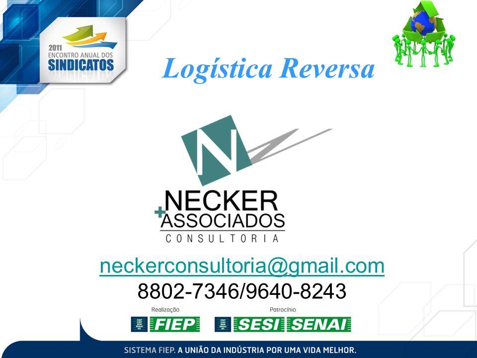 Logística Reversa neckerconsultoria@gmail.com 8802-7346/9640-8243