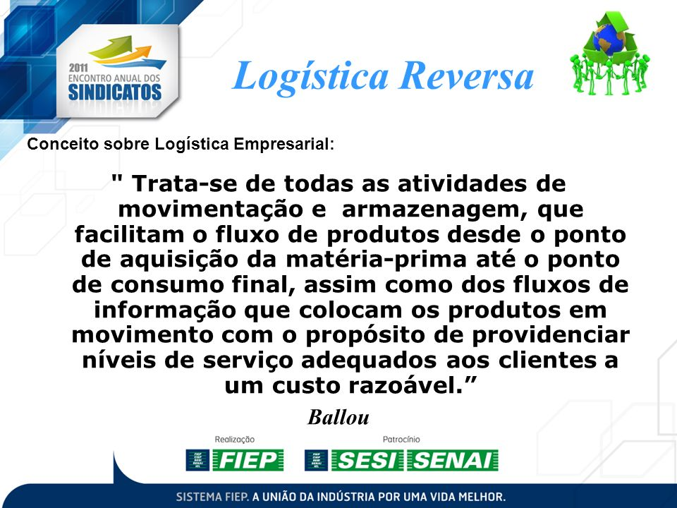 Conceito sobre Logística Empresarial: