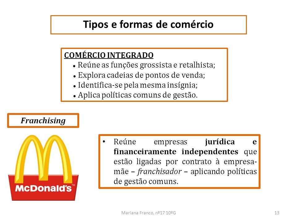 Tipos e formas de comércio
