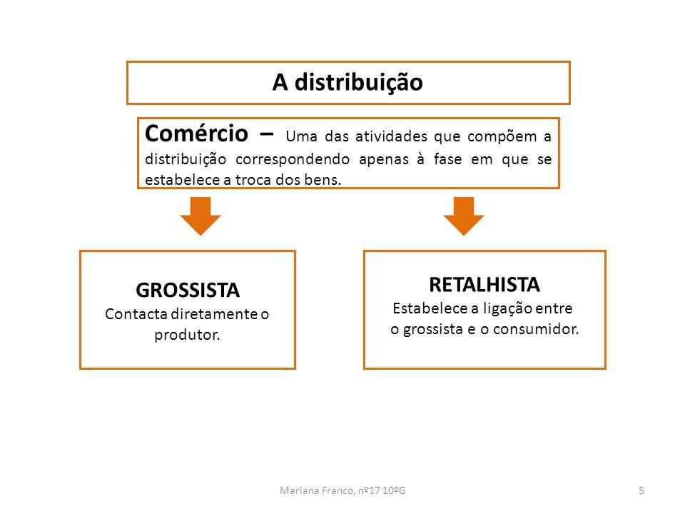 A distribuição Comércio – Uma das atividades que compõem a distribuição correspondendo apenas à fase em que se estabelece a troca dos bens.
