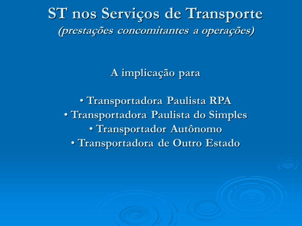 ST nos Serviços de Transporte