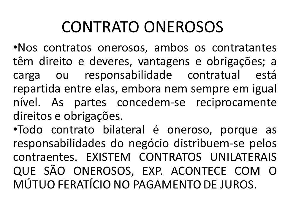 CONTRATO ONEROSOS