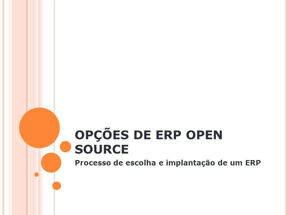 OPÇÕES DE ERP OPEN SOURCE