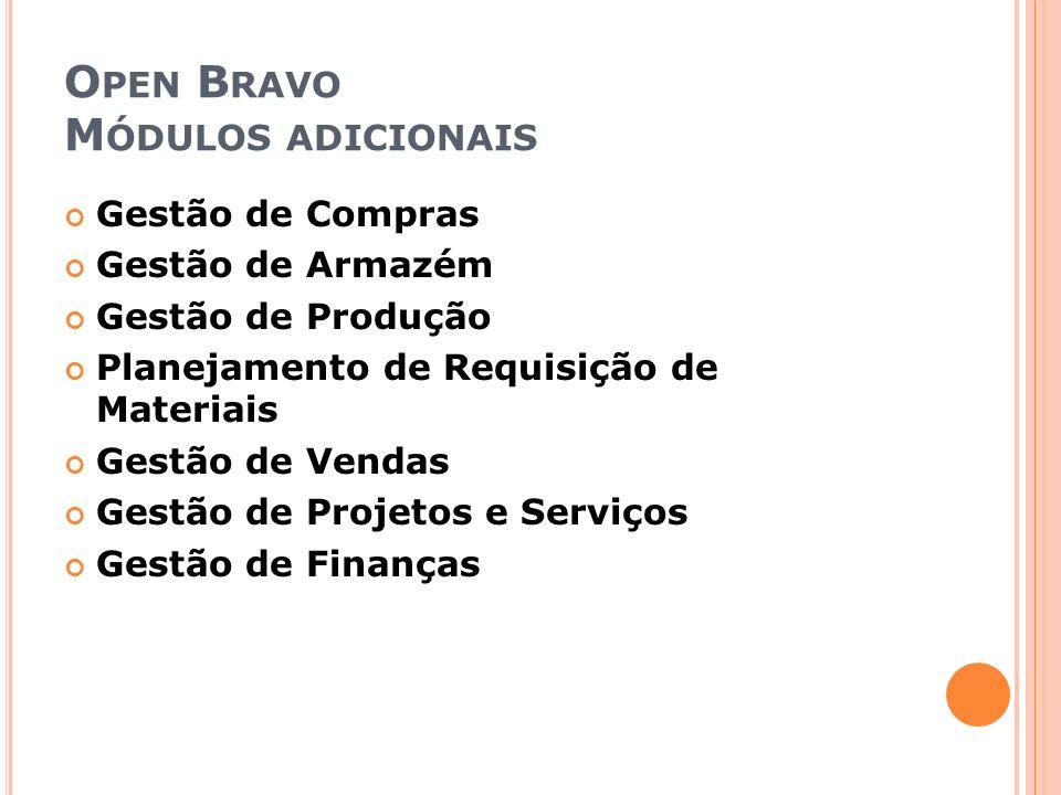 Open Bravo Módulos adicionais