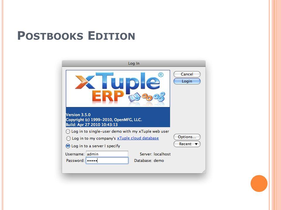 Postbooks Edition