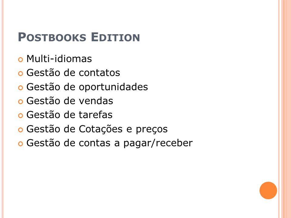 Postbooks Edition Multi-idiomas Gestão de contatos