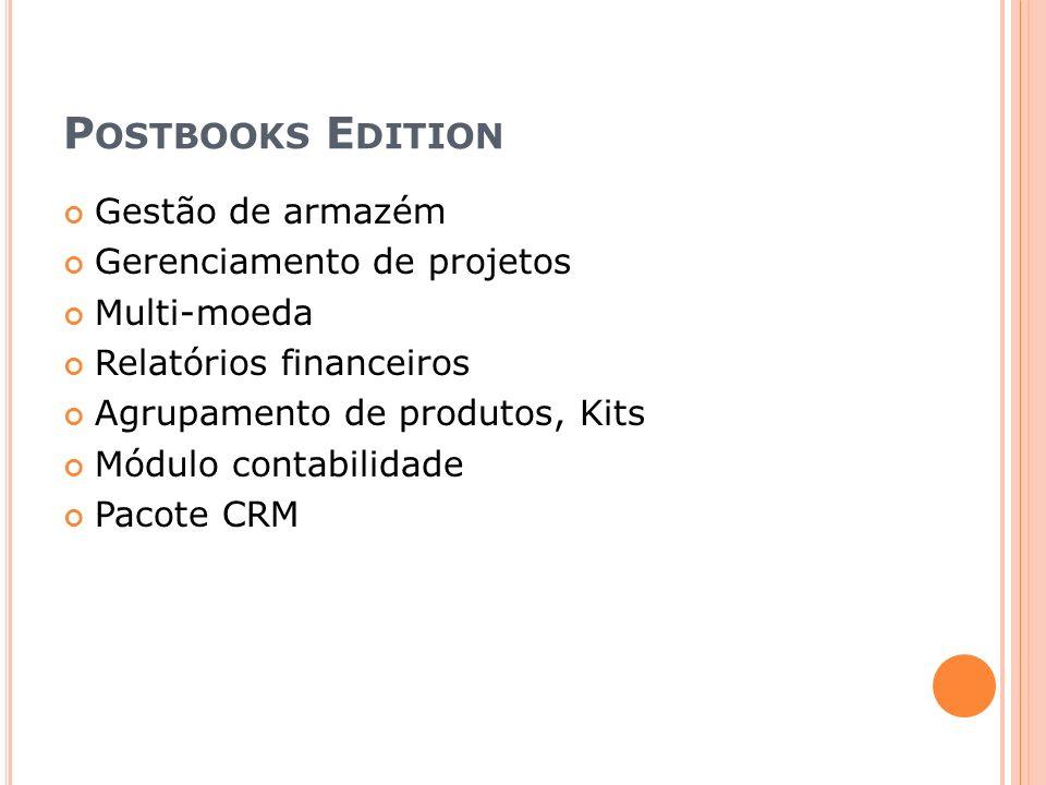 Postbooks Edition Gestão de armazém Gerenciamento de projetos