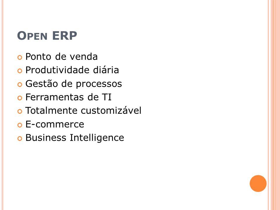 Open ERP Ponto de venda Produtividade diária Gestão de processos