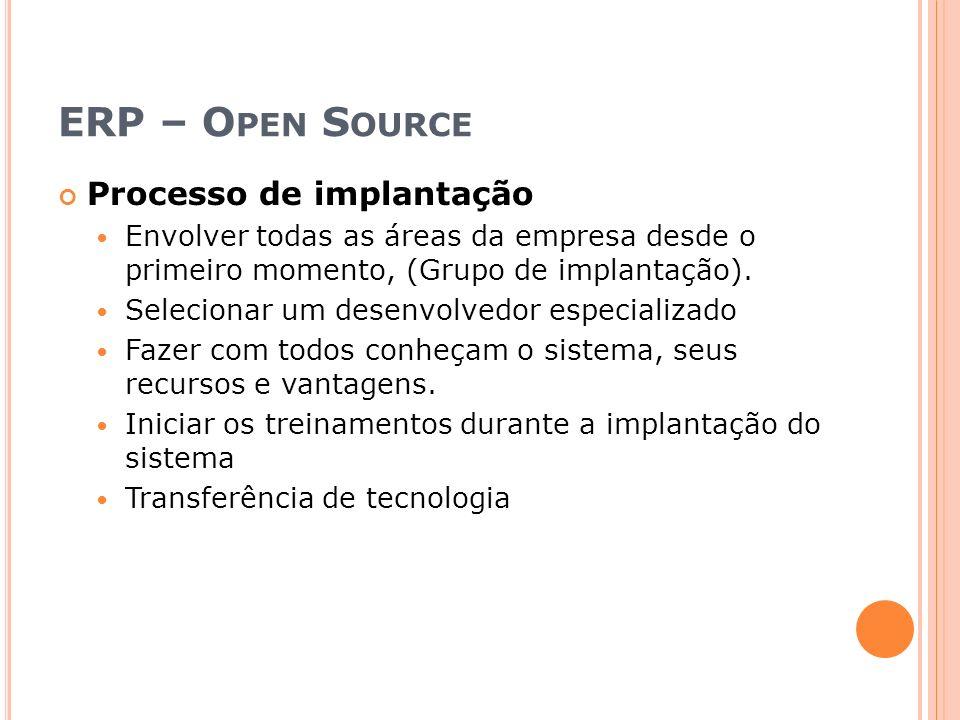 ERP – Open Source Processo de implantação