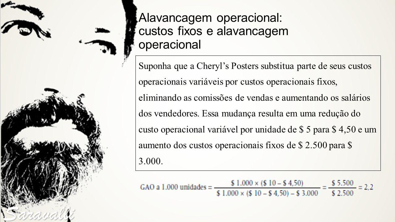 Alavancagem operacional: custos fixos e alavancagem operacional