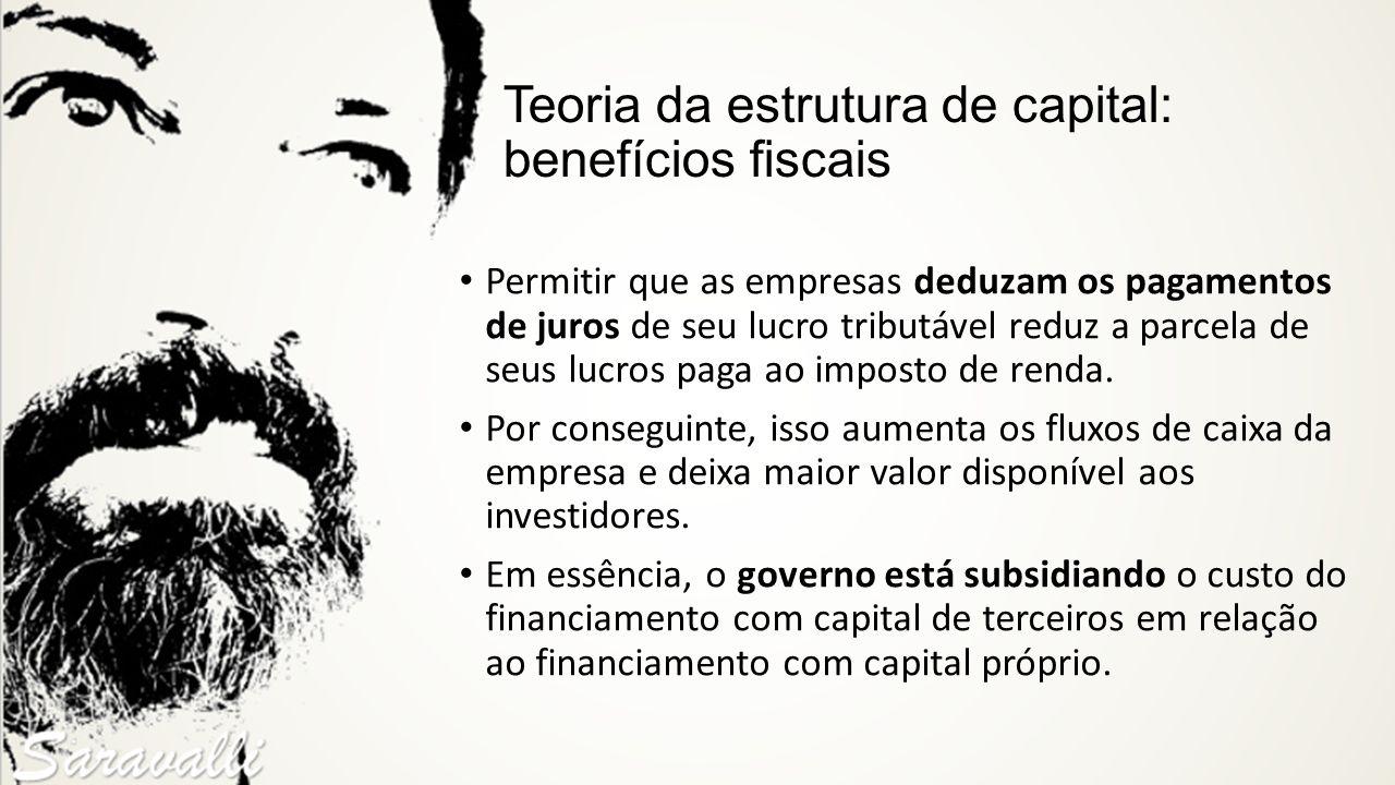 Teoria da estrutura de capital: benefícios fiscais