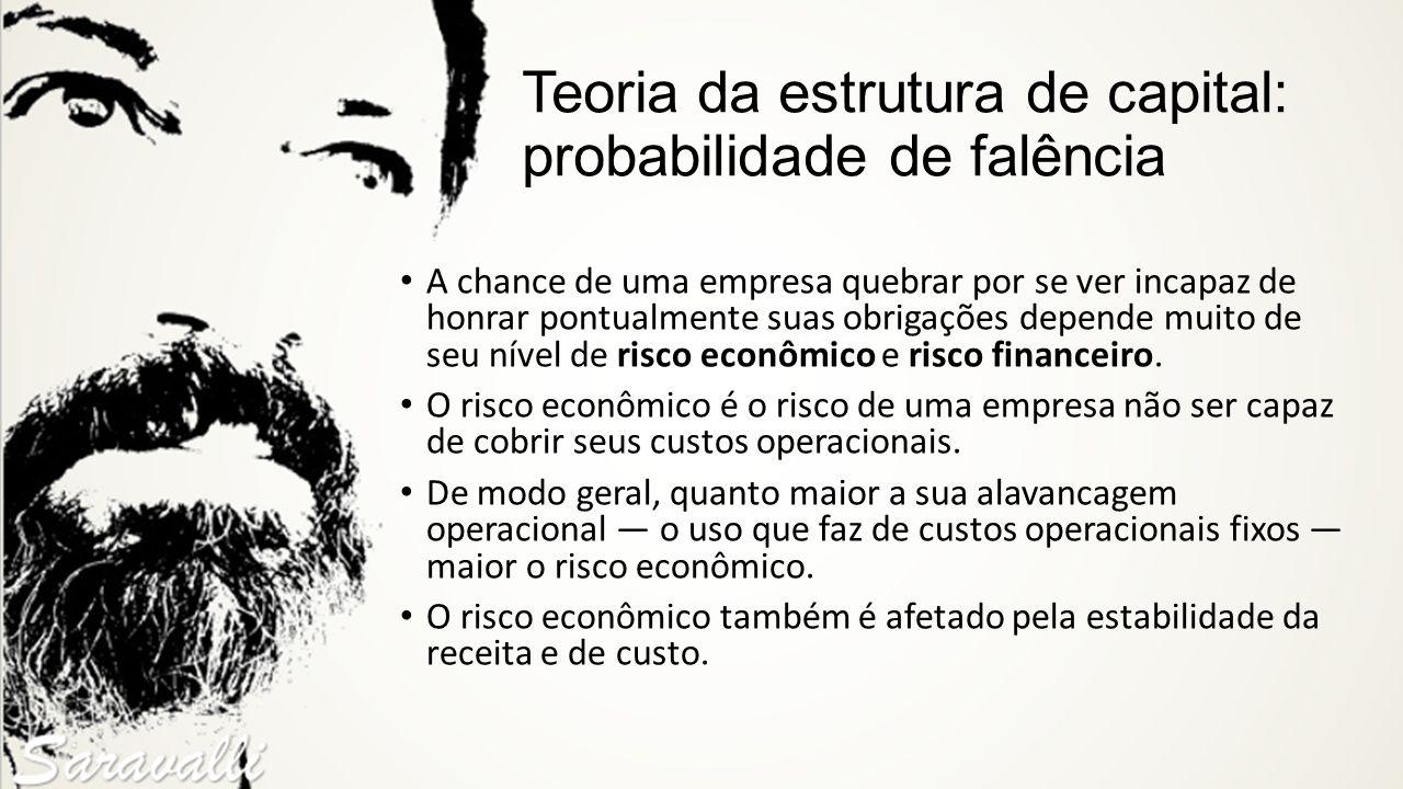 Teoria da estrutura de capital: probabilidade de falência