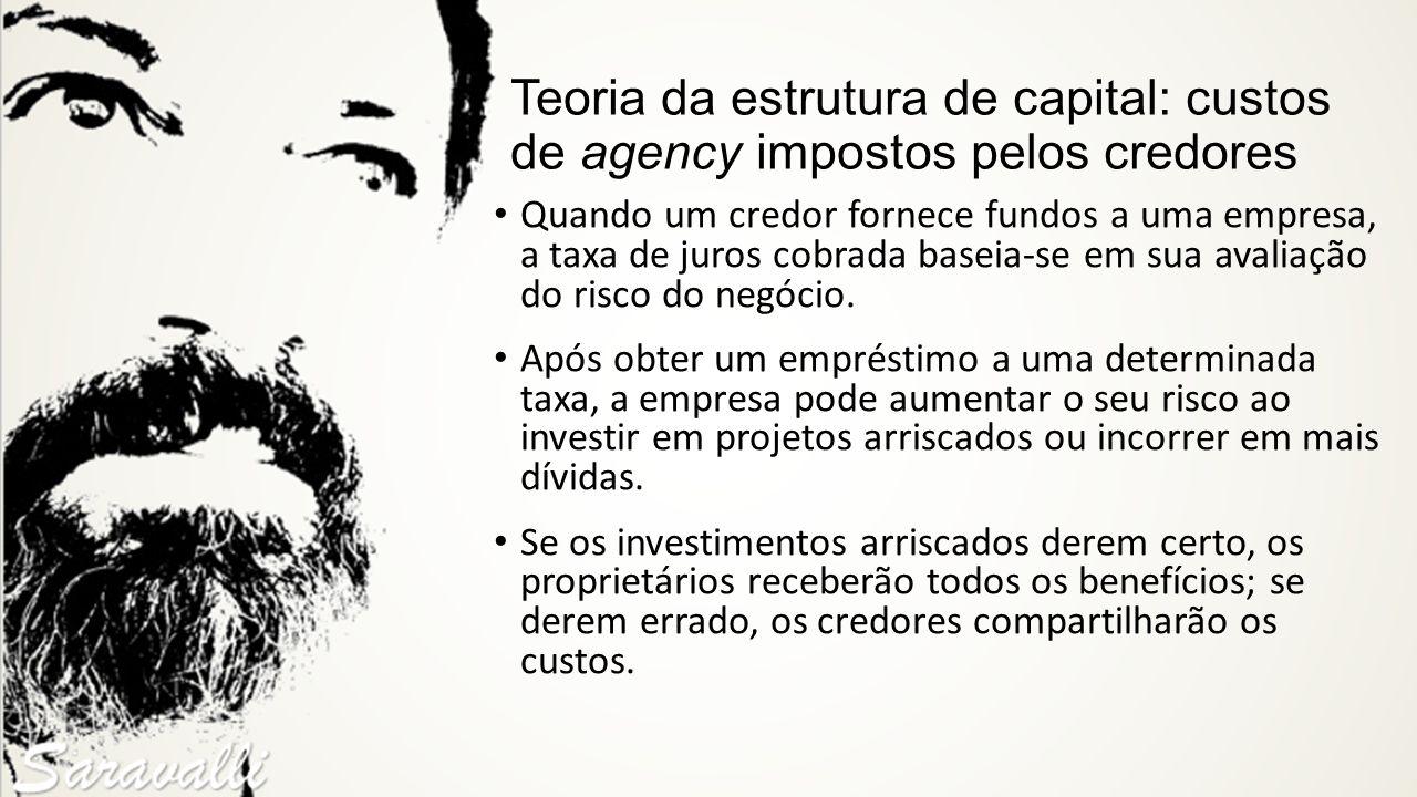 Teoria da estrutura de capital: custos de agency impostos pelos credores