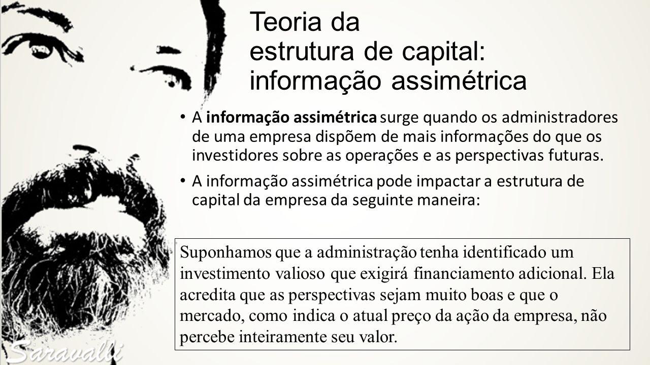 Teoria da estrutura de capital: informação assimétrica