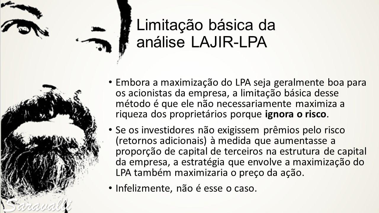 Limitação básica da análise LAJIR-LPA