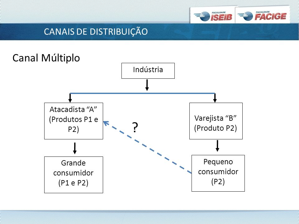 Canal Múltiplo CANAIS DE DISTRIBUIÇÃO Indústria