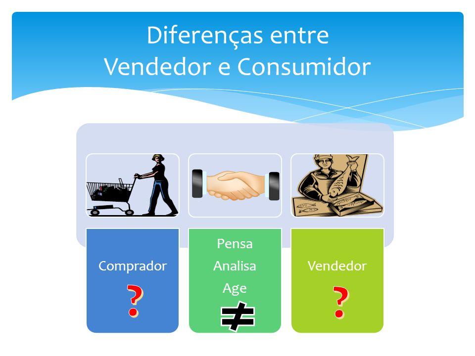 Diferenças entre Vendedor e Consumidor