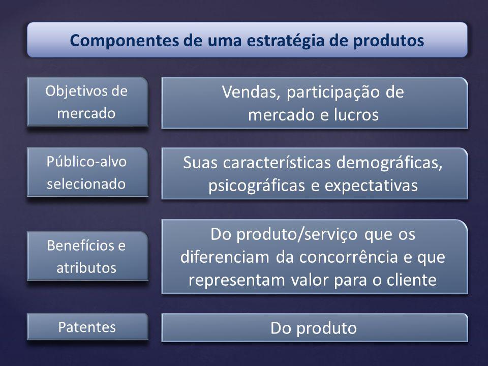 Componentes de uma estratégia de produtos
