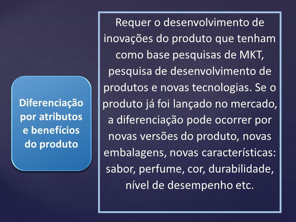 Diferenciação por atributos e benefícios do produto