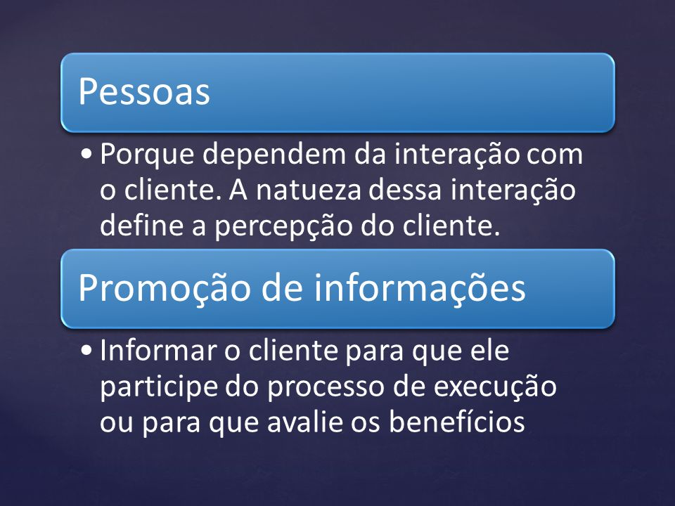 Promoção de informações