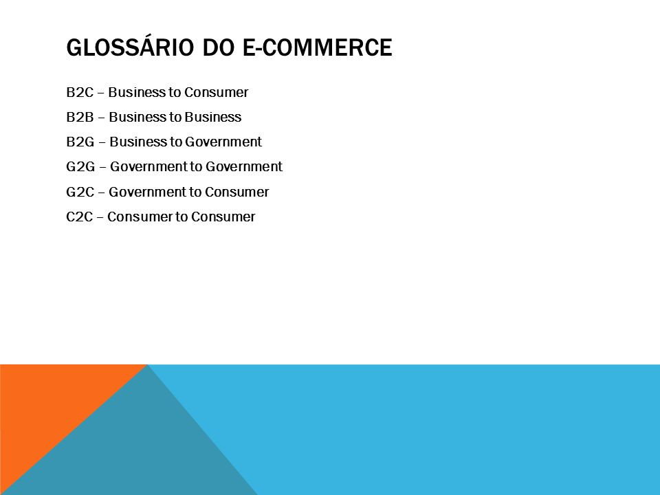 Glossário do e-commerce