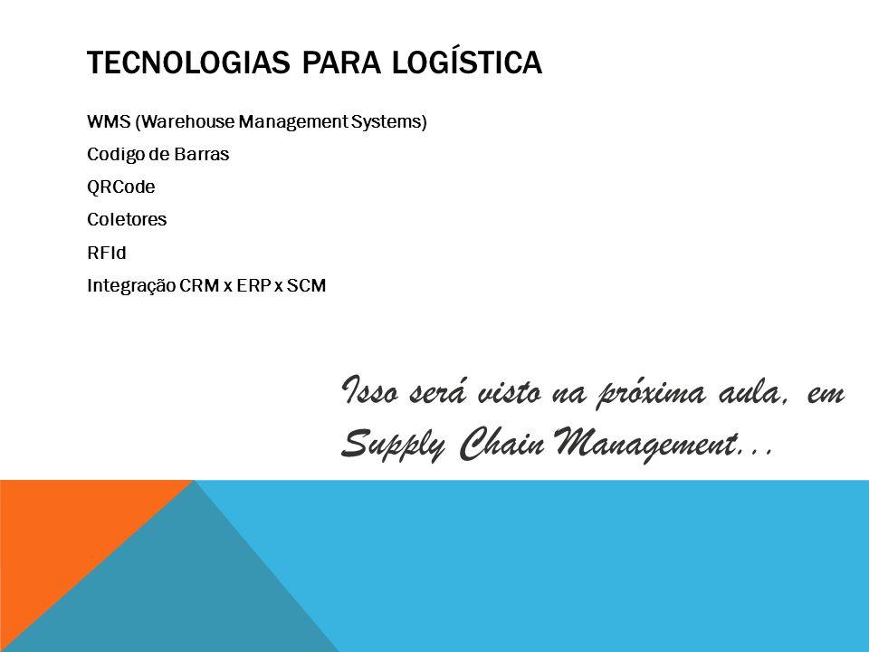 Tecnologias para Logística