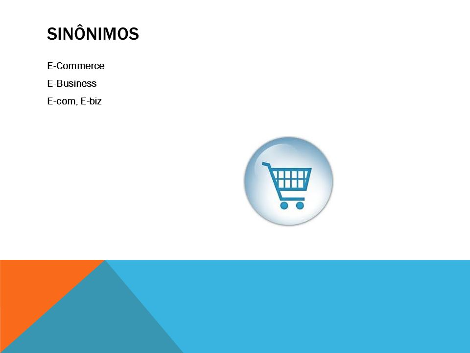 Sinônimos E-Commerce E-Business E-com, E-biz