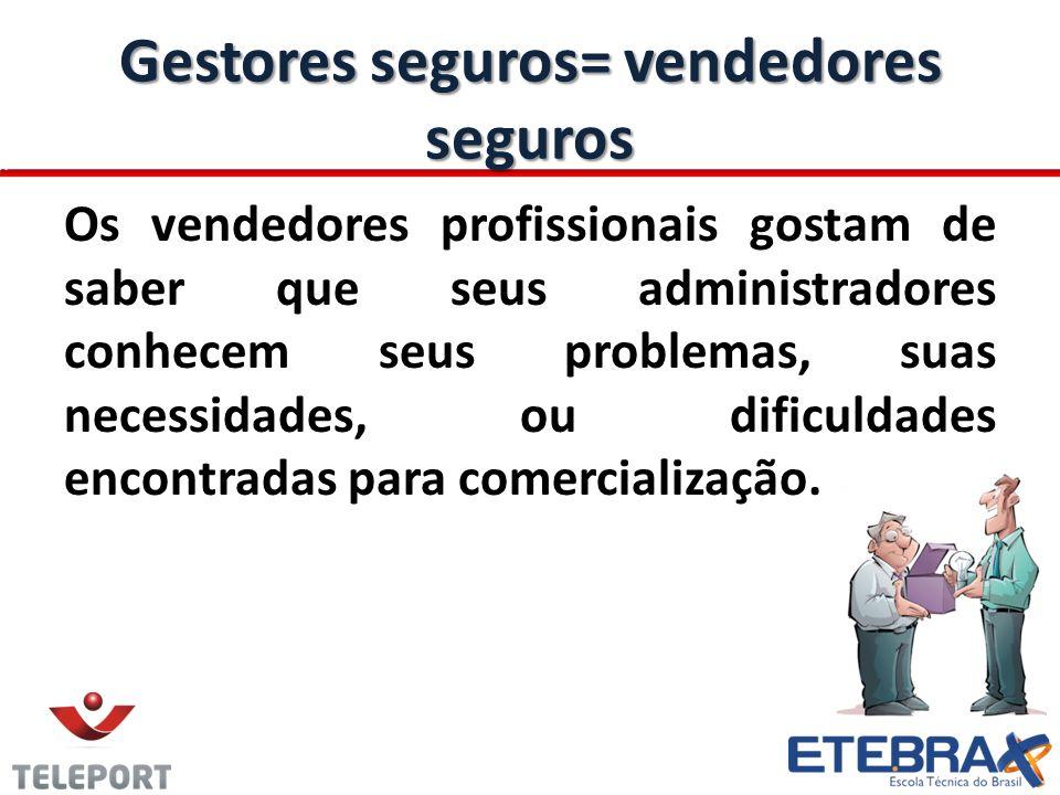 Gestores seguros= vendedores seguros