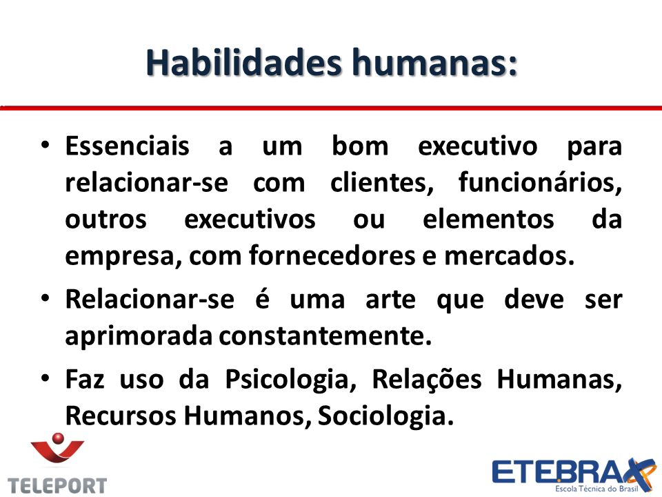 Habilidades humanas: