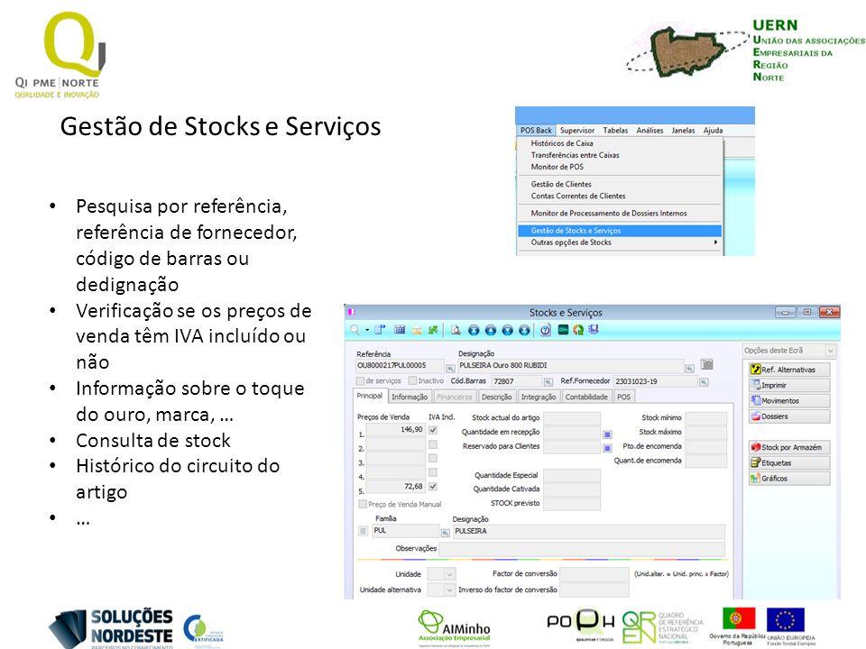 Gestão de Stocks e Serviços