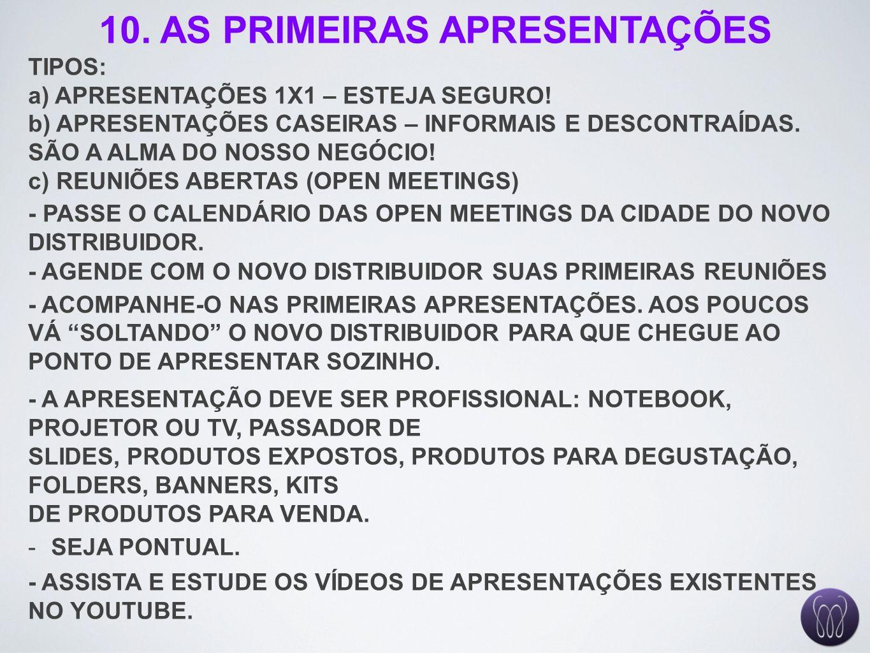10. AS PRIMEIRAS APRESENTAÇÕES