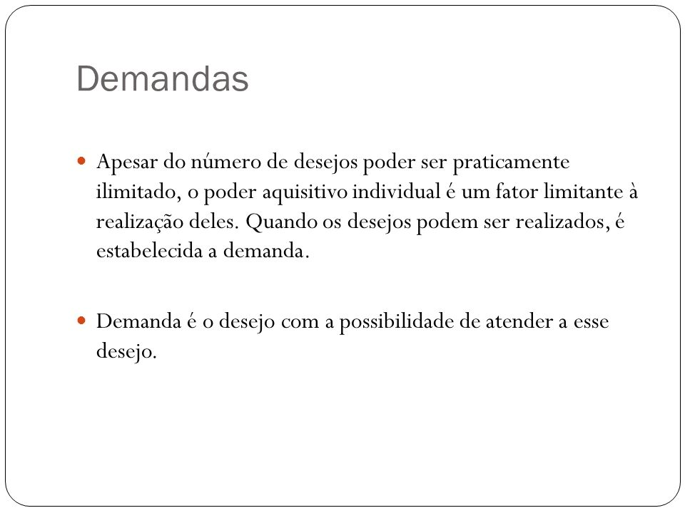 Demandas