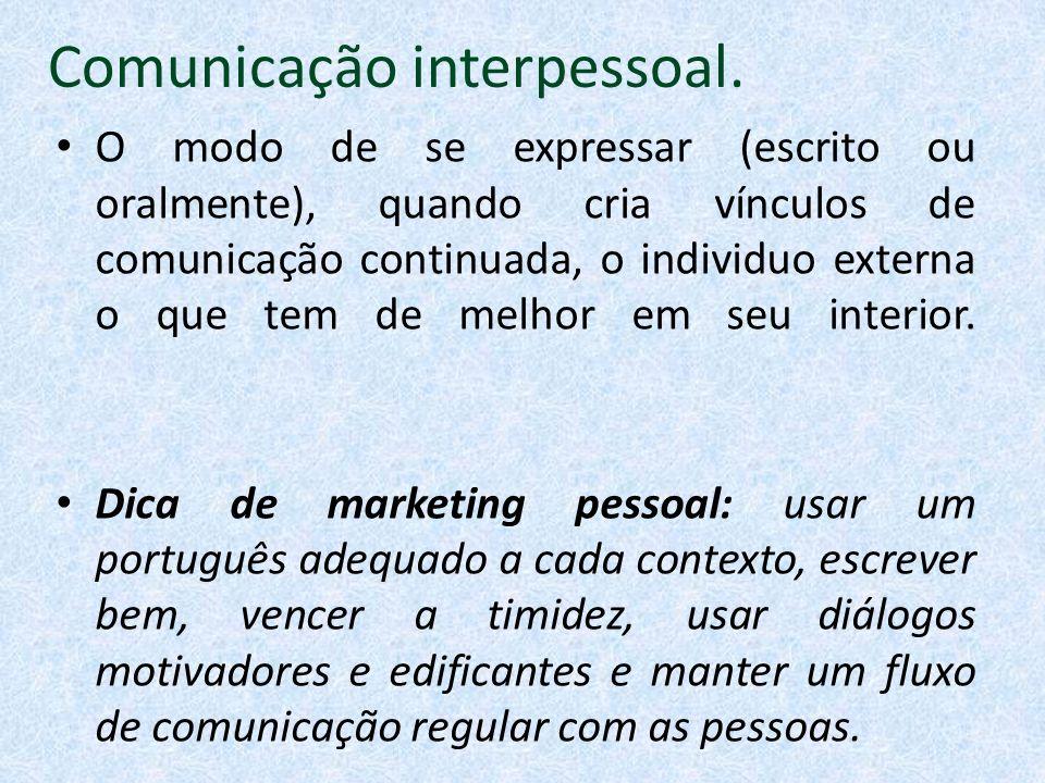 Comunicação interpessoal.