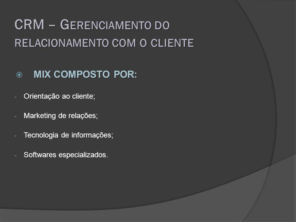 CRM – Gerenciamento do relacionamento com o cliente