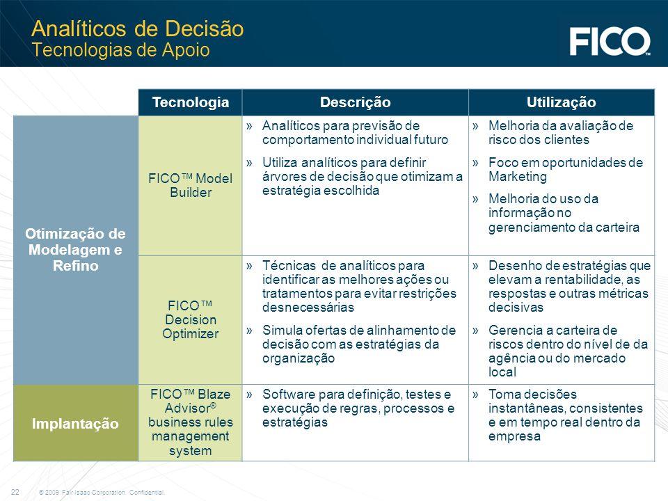 Analíticos de Decisão Tecnologias de Apoio