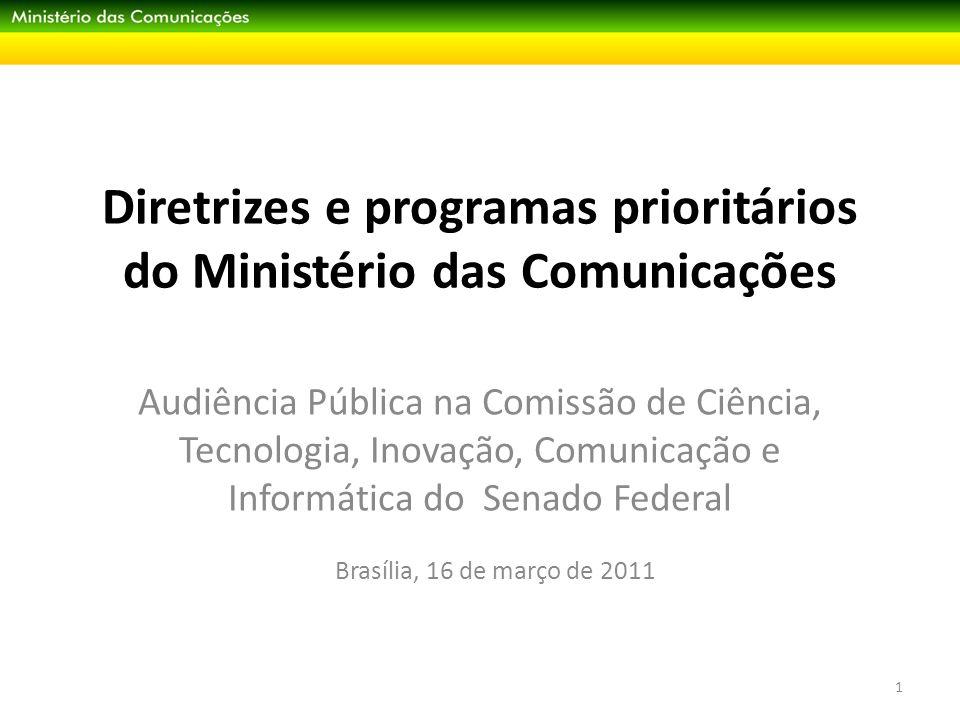 Diretrizes e programas prioritários do Ministério das Comunicações