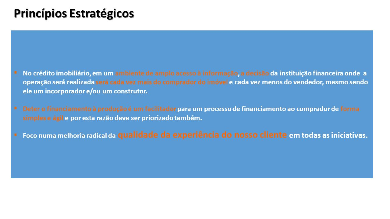 Princípios Estratégicos