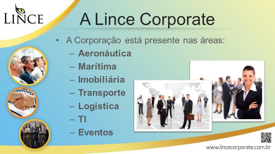 A Lince Corporate A Corporação está presente nas áreas: Aeronáutica
