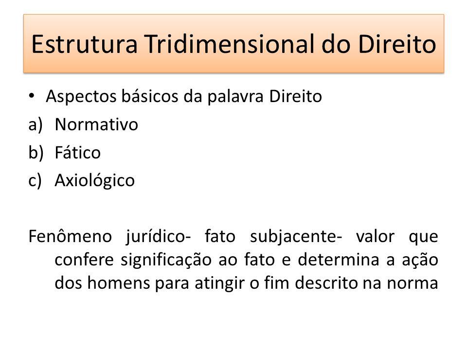 Estrutura Tridimensional do Direito