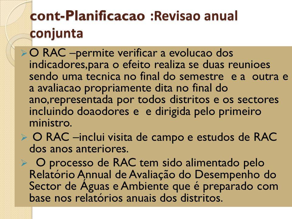 cont-Planificacao :Revisao anual conjunta