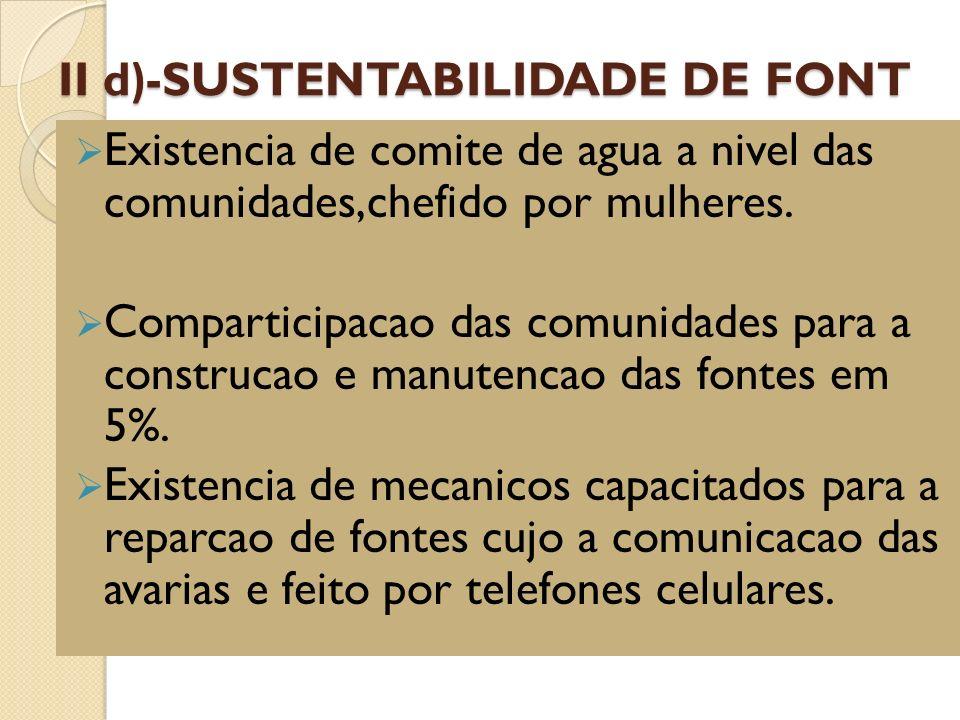II d)-SUSTENTABILIDADE DE FONT