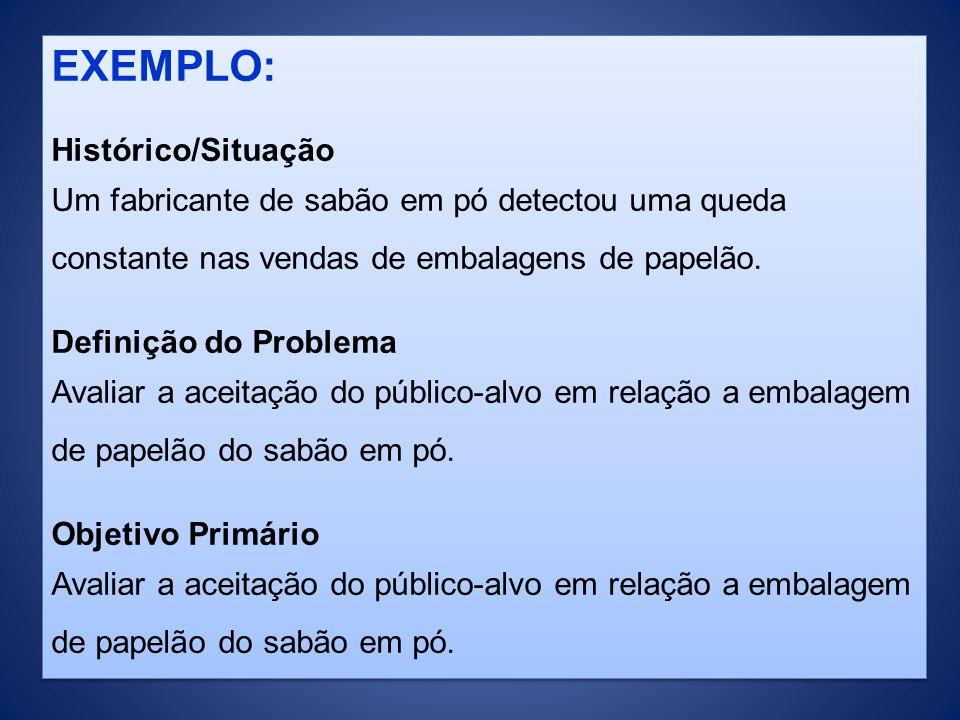 EXEMPLO: Histórico/Situação